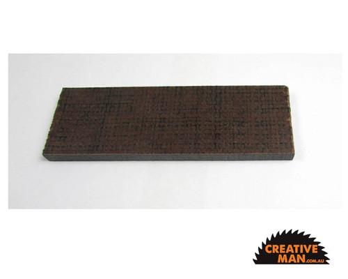 Micarta Black Jute Handle Scales 7 mm, set of 2