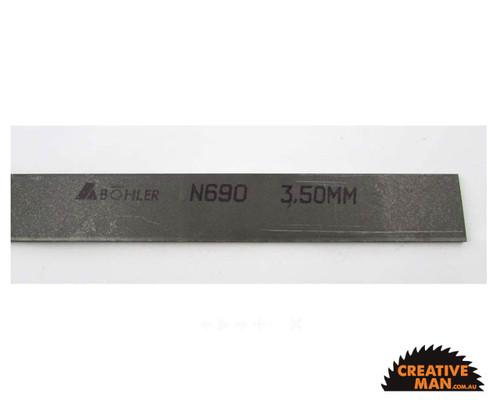 N690 Stainless Steel, 2.5 x 50 x 500 mm