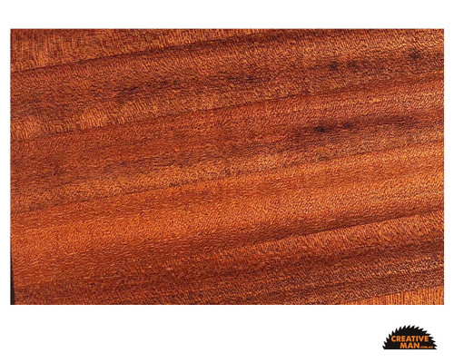 showing sanded and oiled Sapele wood