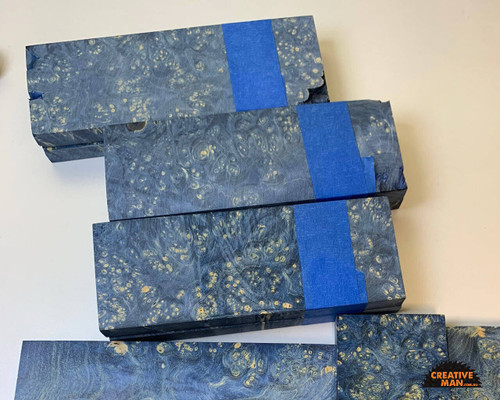 Stabilized Maple Burl Scales, BLUE