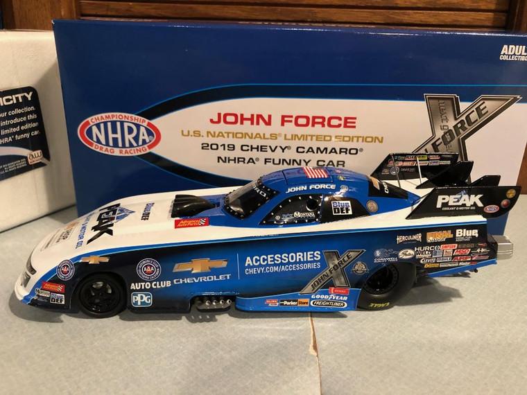 2019 Auto World John Force U.S. Nationals PEAK Chevy NHRA Funny Car 1/24
