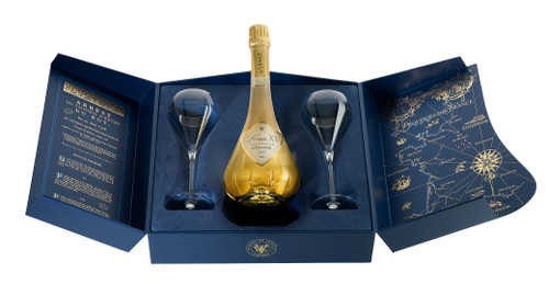 CHAMPAGNE DE VENOGE LOUIS XV 1996 + 2 GLASSES 75CL
