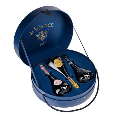 CHAMPAGNE DE VENOGE PRINCES 3B COFFRET CHAPEAU 75CL