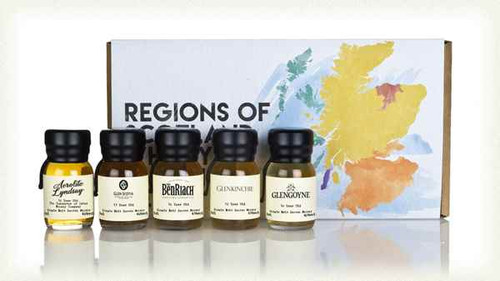 REGIONS OF SCOTLAND WHISKY TASTING SET 15CL