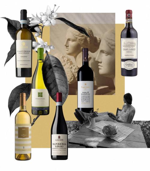 ITALIAN WINE ENTHUSIAST SET (3 red & 3 white wines )