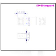 iStarUSA DD-FANGUARD-6 60mm Fan Guard