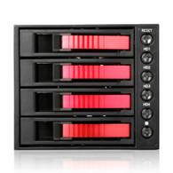 iStarUSA BPU-340SATA-RED 3x5.25 to 4x3.5SATA Cage-Red