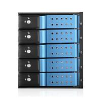 "iStarUSA BPN-DE350HD-BLUE 3x5.25"" to 5x3.5"" 12Gb/s Cage Blue"