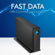 Lacie STHA4000800 d2 Professional 4TB USB-C and USB 3.0 External Hard Drive