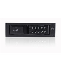"""iStarUSA BPN-DE110P-BLACK 5.25"""" to 3.5"""" HDD 12 Gb/s Rack With Independent Power Switch"""