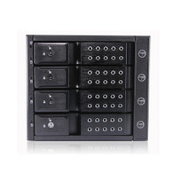 "iStarUSA BPN-DE340P-BLACK 3x5.25"" to 4x3.5"" HDD 12g rack with independent power switch"
