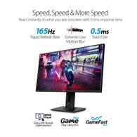 "Asus VG278QR 27"" Widescreen 100,000,000:1 0.5ms DVI/HDMI/DisplayPort LED LCD Monitor, w/ Speakers (Black)"