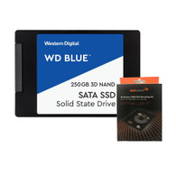 "Special bundle - WD WDS250G2B0A Blue 250GB 2.5"" SATA Internal Solid State Drive + AAAwave Aluminum HDD/SSD Mounting Kit"