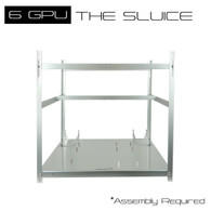AAAwave 'The Sluice' 6 GPU Stackable Aluminum Mining Frame Rig Case with Fan Mounts