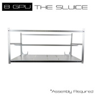AAAwave 'The Sluice' 8 GPU Stackable Aluminum Mining Frame Rig Case with Fan Mounts