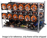 AAAwave 'The Sluice' 16 GPU Stackable Aluminum Mining Frame Rig Case with Fan Mounts