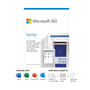 Microsoft 6GQ-01193 365 Family 1 Year Subscription For Up To 6 Users - For Windows, macOS, iOS, and Android devices - PC/Mac Keycard