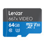 Lexar LMS667V064G-BNANU Professional 667X Video 64GB microSDXC UHS-I Card