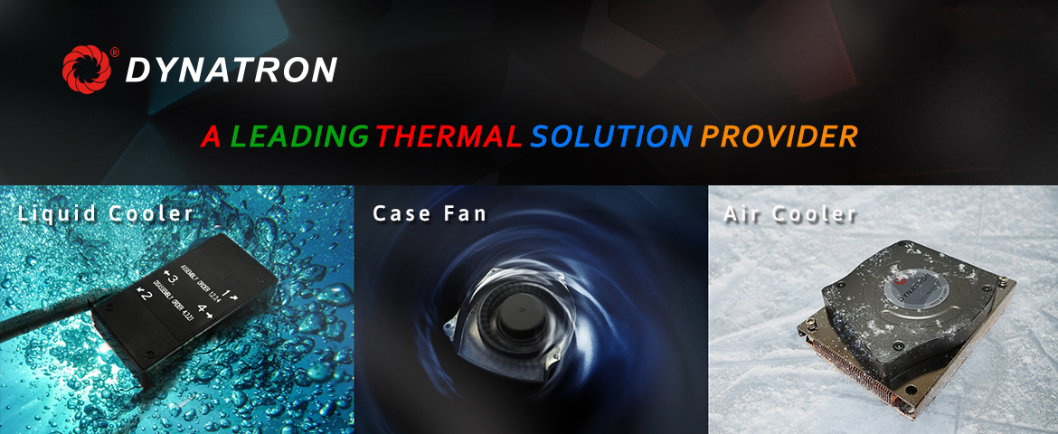 Dynatron liquid cooler case fan air cooler themal solution
