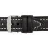 Black Hirsch Liberty Vintage Leather Watch Strap - Image 3