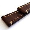Brown Hirsch Liberty Vintage Leather Watch Strap - Image 7