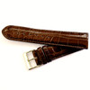 Dunthorp Cognac Ambassador Genuine Alligator Watch Strap - Image 3