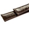 Dunthorp Dark Brown Ambassador Genuine Alligator Watch Strap - Image 2