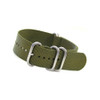 Olive 5-Ring Ballistic Strap - Stainless Steel Rings