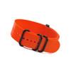 Orange 5-Ring Ballistic Strap - PVD (Black) Rings
