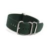 Dark Green 5-Ring Ballistic Strap - Stainless Steel Rings