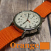 Orange 3 Ring Ballistic Strap | The Watch Prince