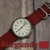 Burgundy 3 Ring Ballistic Strap