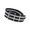 Double Bond Stripe - 4-Square Ring Ballistic Strap (Stripes)