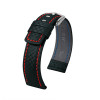 Hirsch Carbon - Black with Red Stitching