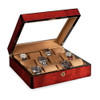 Venlo Triple Birlwood Collection (12 Watch Case with Window)