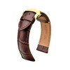 Hirsch Lord - Brown with Gold-Tone Deploy Buckle
