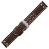 Leather with Rivets, for Luminox - Brown