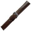 Brown Italian Leather Watch Band   Hadley Roma MS852