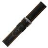 Black Genuine Alligator, Orange Stitching | Hadley Roma MS2024