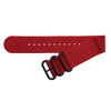 Red Two-Piece Ballistic Nylon Watch Strap (V2) with PVD (Black) Hardware | TheWatchPrince.com