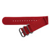 Red Two-Piece Ballistic Nylon Watch Strap (V2) with Stainless Steel Hardware | TheWatchPrince.com