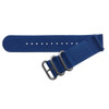 Blue Two-Piece Ballistic Nylon Watch Strap (V2) with Stainless Steel Hardware | TheWatchPrince.com