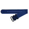 Blue Two-Piece Ballistic Nylon Watch Strap (V2) with PVD (Black) Hardware | TheWatchPrince.com
