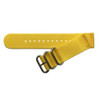 Yellow Two-Piece Ballistic Nylon Watch Strap (V2) with Stainless Steel Hardware | TheWatchPrince.com