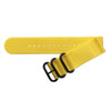 Yellow Two-Piece Ballistic Nylon Watch Strap (V2) with PVD (Black) Hardware | TheWatchPrince.com