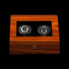 Sienna | Teak Watch Winder | For 2 Watches | Front