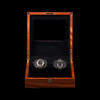 Sienna | Teak Watch Winder | For 2 Watches | Open
