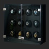 Milano, Carbon Fiber | Watch Winder | For 12 Watches | Closed