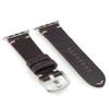 Mocha Alligator Flank Cut Watch Band for Apple Watch