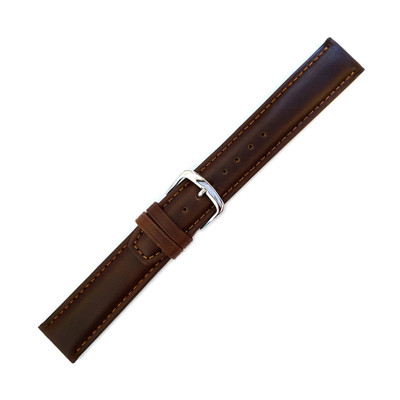Brown Oil Tan Leather Watch Band | Hadley Roma MS881